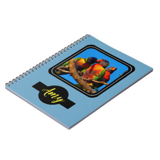 Fun photo notebook with name