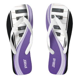 Fun Piano Design With Purple Swoosh Thongs