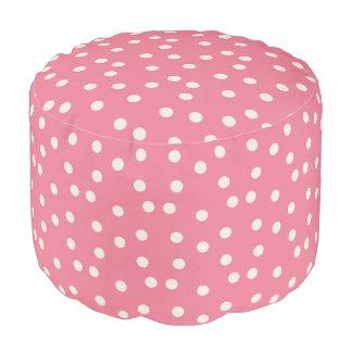 FUN pink polka dots pouf footstool beanbag Round Pouf