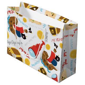 Fun Pirate ship pattern party gift bag