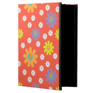 fun playful flower iPad case pink orange