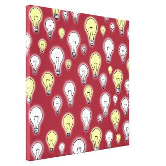 Fun Playful Glowing Light Bulbs Inspiration Gallery Wrap Canvas