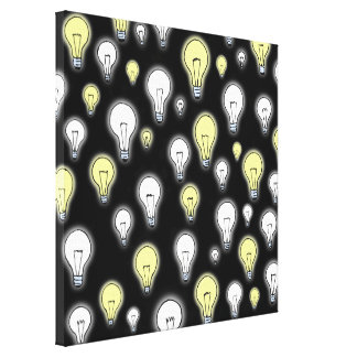 Fun Playful Glowing Light Bulbs Inspiration Gallery Wrap Canvas