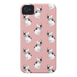 Fun playtime for the Single hooded pied Frenchie Case-Mate iPhone 4 Cases