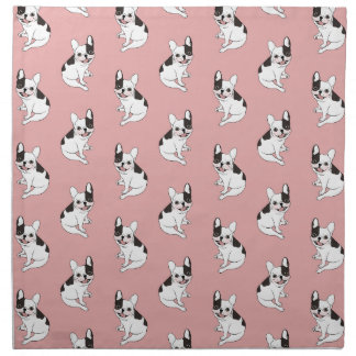 Fun playtime for the Single hooded pied Frenchie Napkin
