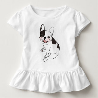 Fun playtime for the Single hooded pied Frenchie Toddler T-Shirt