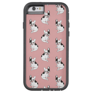 Fun playtime for the Single hooded pied Frenchie Tough Xtreme iPhone 6 Case