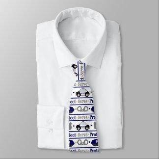 Fun Police pattern work tie