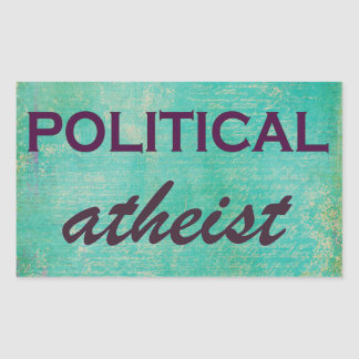 Fun Political Atheist Sticker