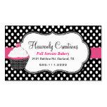 Fun Polka Dot and Cupcake Bakery Business Card