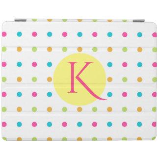 Fun Polka Dots Monogrammed iPad Smart Cover