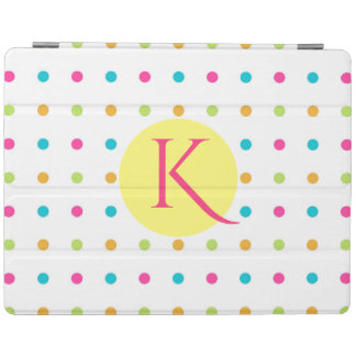 Fun Polka Dots Monogrammed iPad Smart Cover iPad Cover