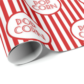 Fun popcorn word art party pattern wrap wrapping paper