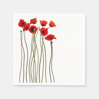 Fun Poppies Paper Napkins