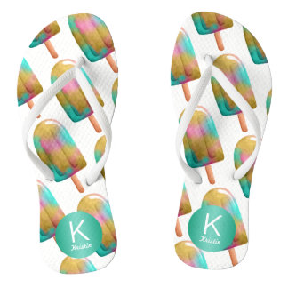 Fun Popsicle Pattern with Your Monogram Thongs