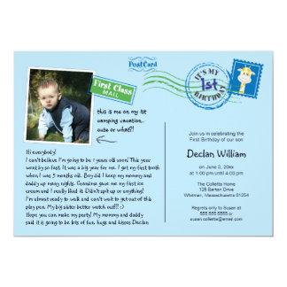 Fun Postcard Birthday Party Invitation