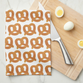 Fun Pretzel Pattern Tea Towel