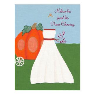 Fun Princess Bridal Shower Invitations Postcards