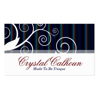 Fun, professional & clean with lines & curls pack of standard business cards