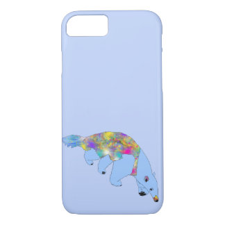Fun Psychedelic Blue Anteater Animal Art Design iPhone 8/7 Case
