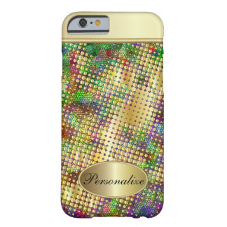 Fun Psychedelic with a Splatter of Gold Dots Barely There iPhone 6 Case