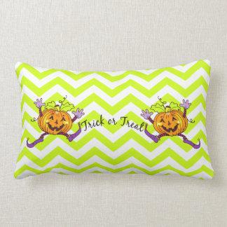 Fun Pumpkin Trick or Treat Cushion