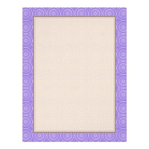 Fun Purple Geometric Floral Custom Flyer