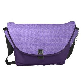 Fun Purple Geometric Floral Messenger Bag