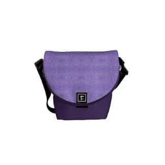 Fun Purple Geometric Floral Messenger Bags