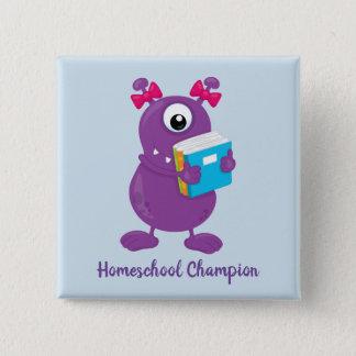 Fun Purple Monster Homeschool Champion 15 Cm Square Badge