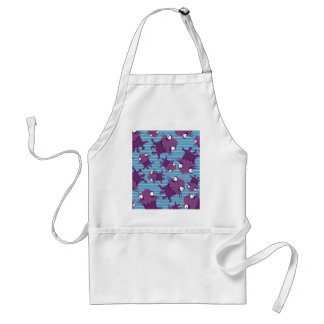 Fun Purple Monsters Creatures Blue Gifts for Kids Apron