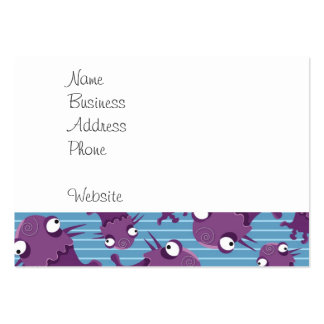 Fun Purple Monsters Creatures Blue Gifts for Kids Business Card Templates