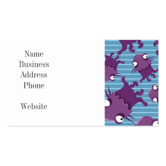 Fun Purple Monsters Creatures Blue Gifts for Kids Business Card Template