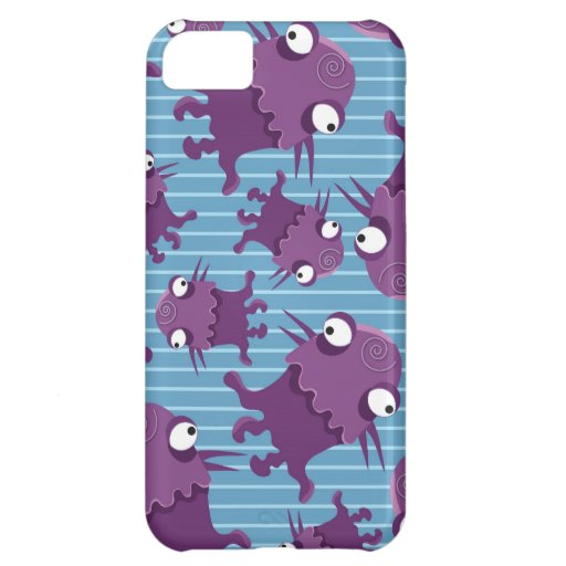 Fun Purple Monsters Creatures Blue Gifts for Kids Case For iPhone 5C