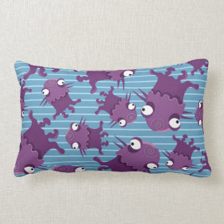 Fun Purple Monsters Creatures Blue Gifts for Kids Throw Pillow