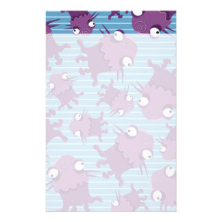 Fun Purple Monsters Creatures Blue Gifts for Kids Customised Stationery