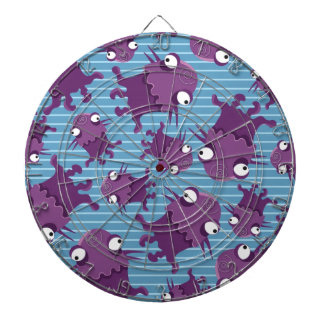 Fun Purple Monsters Creatures Blue Gifts for Kids Dart Boards