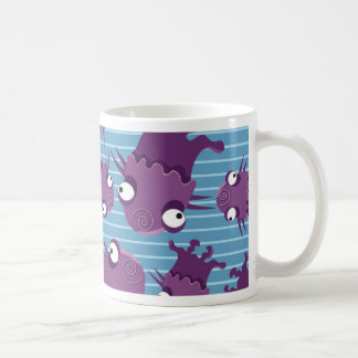 Fun Purple Monsters Creatures Blue Gifts for Kids Basic White Mug