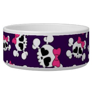 Fun purple skulls and bows pattern