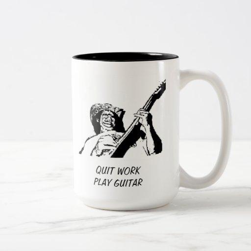FUN QUIT WORK  PLAY GUITAR COFFEE MUG DRINKING MUG