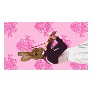 Fun rabbit playing violin business card templates