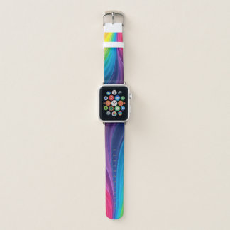 Fun Rainbow of Colors Apple Watch Band