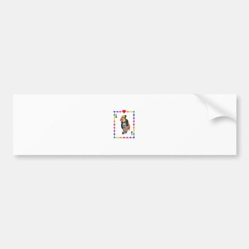 Fun Rainbow Playing Card Bumper Stickers