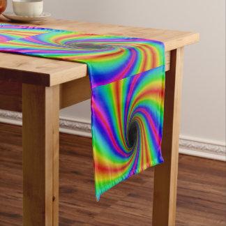 Fun Rainbow Swirl Pattern Table Runner