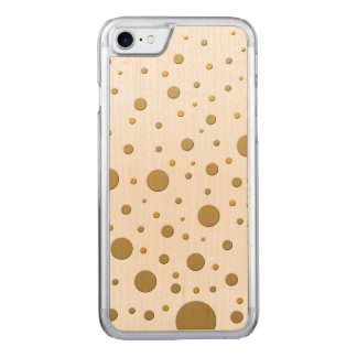 Fun Random Gold Dots Carved iPhone 7 Case