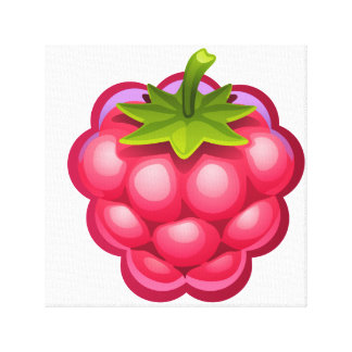 Fun Raspberry Canvas Wall Art