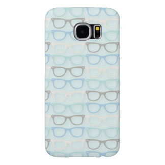 Fun Reading Glasses Pattern on Blue Samsung Galaxy S6 Cases