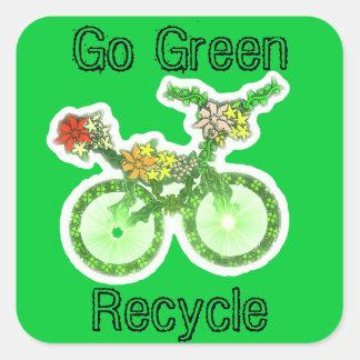 Fun Recycle Picture Design Square Sticker