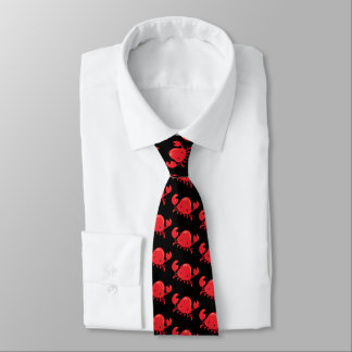 Fun Red black beach crab tie
