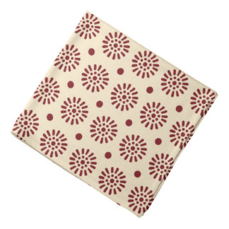 Fun Red Cream Pattern Bandana